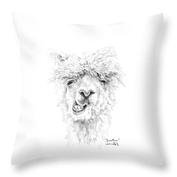 Throw Pillow featuring the drawing Jonathon by K Llamas