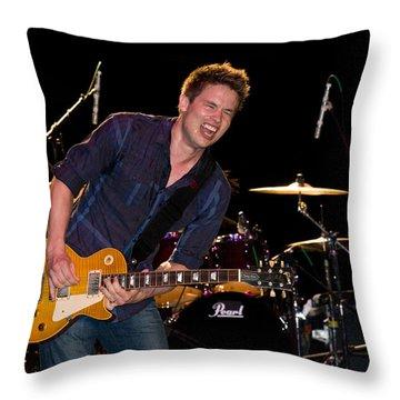 Jonny Lang Rocks His 1958 Les Paul Gibson Guitar Throw Pillow