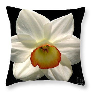 Jonquil 1 Throw Pillow by Rose Santuci-Sofranko