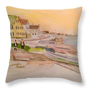 Joppa Flats Newburyport Throw Pillow