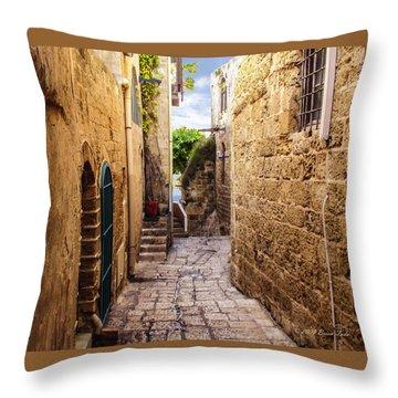 Joppa Israel Passageway Throw Pillow