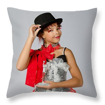 Jordan In Plastic Cup Can Can Dress Throw Pillow