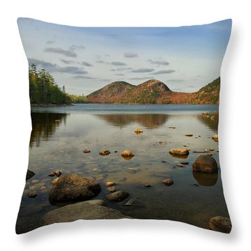 Throw Pillow featuring the photograph Jordan Pond 1 by Arthur Dodd