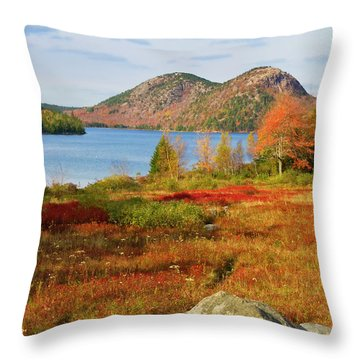 Throw Pillow featuring the photograph Jordan Pond 2 by Arthur Dodd