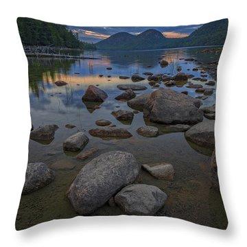Jordan Pond Afterglow Throw Pillow