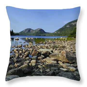Jordan Pond No.1 Throw Pillow