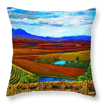 Jordan Vineyard Throw Pillow by Michael Durst