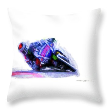 Jorge Lorenzo Yamaha Throw Pillow