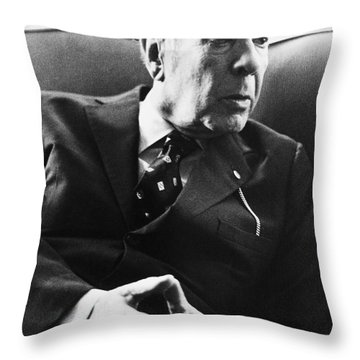 Jorge Luis Borges (1899-1986) Throw Pillow by Granger
