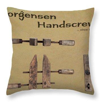 Jorgensen Handscrew Throw Pillow