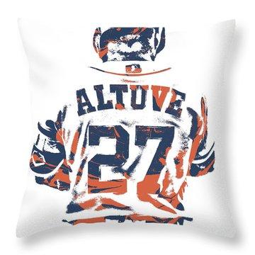 Jose Altuve Houston Astros Pixel Art 10 Throw Pillow