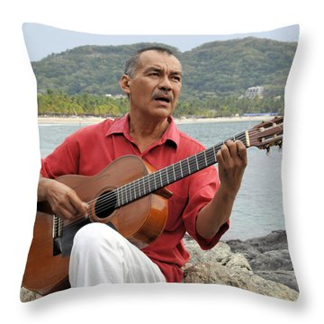 Throw Pillow featuring the photograph Jose Luis Cobo by Jim Walls PhotoArtist