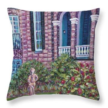 Joseph Aiken Mansion And Carriage House Throw Pillow