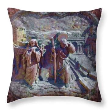 Joseph And Mary1 Throw Pillow