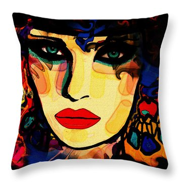 Josephine Throw Pillow by Natalie Holland