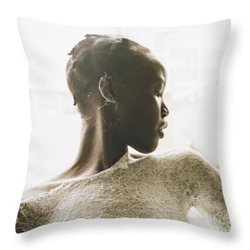 Throw Pillow featuring the photograph Josephine by Rebecca Harman