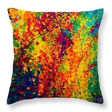 Joseph's Coat Trees Throw Pillow