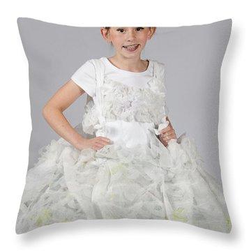 Josette In Dryer Sheet Dress Throw Pillow