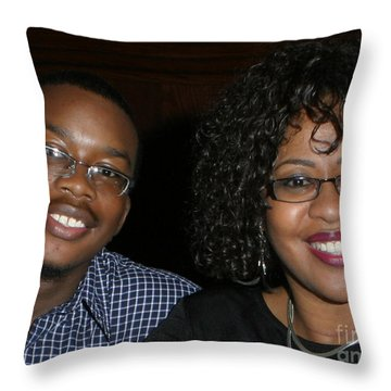 Josh And His Mom Throw Pillow by Angela L Walker