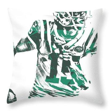Josh Mccown New York Jets Pixel Art 1 Throw Pillow