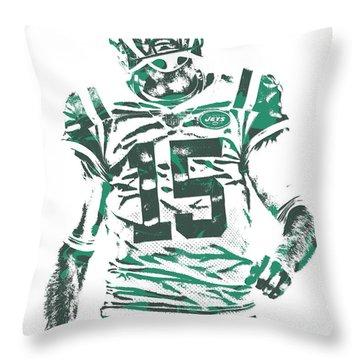 Josh Mccown New York Jets Pixel Art 2 Throw Pillow