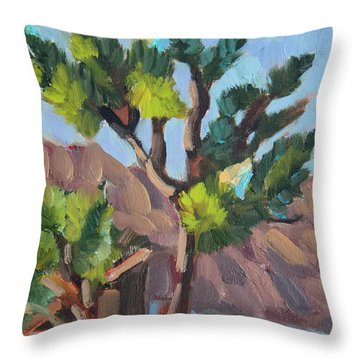 Throw Pillow featuring the painting Joshua At Keys Ranch by Diane McClary