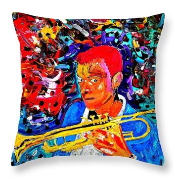 Joshua Bluegreen-cripps Throw Pillow