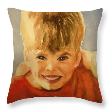 Joshua Throw Pillow by Marilyn Jacobson