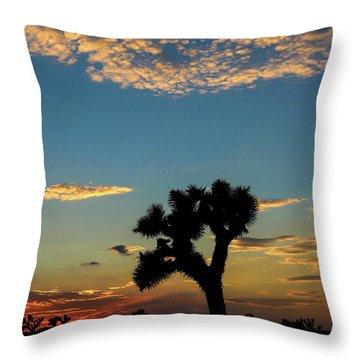 Joshua Sunset Throw Pillow