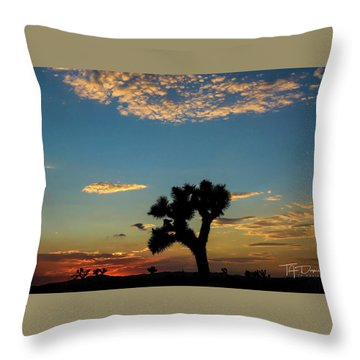 Joshua Sunset Throw Pillow