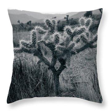 Joshua Tree Cactus Throw Pillow