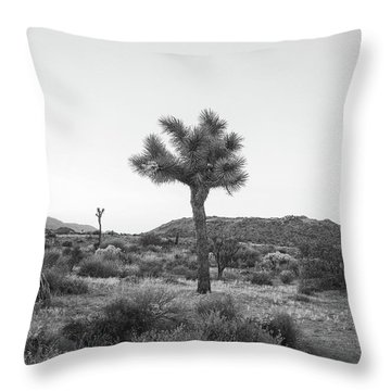 Joshua Tree In Black And White Throw Pillow