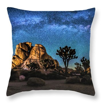 Joshua Tree Milkyway Throw Pillow