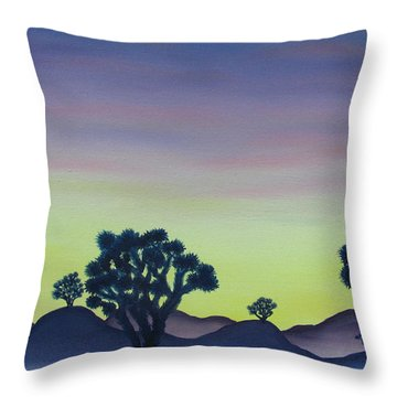 Joshua Tree Sunset Throw Pillow