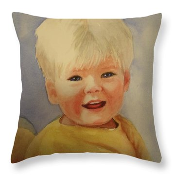 Joshua's Youngest Brother Throw Pillow by Marilyn Jacobson