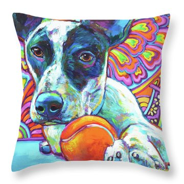 Throw Pillow featuring the digital art Josie by Robert Phelps
