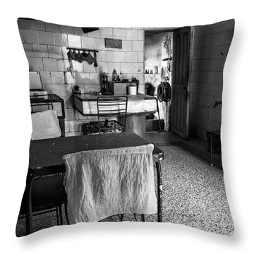 Throw Pillow featuring the photograph Josie's Kitchen Havana Cuba by Joan Carroll