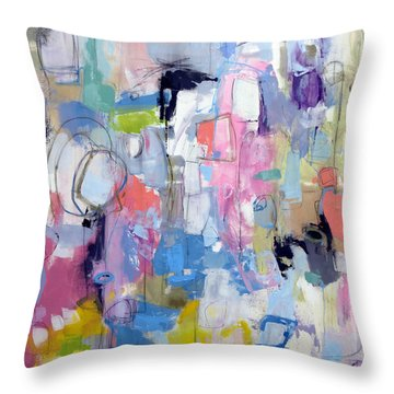 Throw Pillow featuring the painting Journal by Katie Black