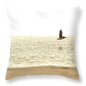 Journey At Daybreak Throw Pillow