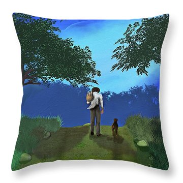 Journey From Desparation To Hope Throw Pillow