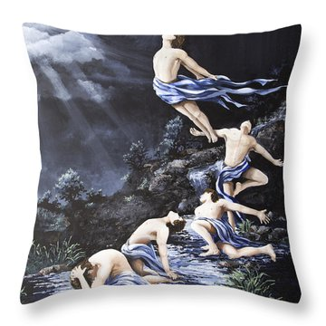 Journey Into Self Male Throw Pillow