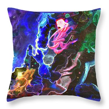 Throw Pillow featuring the painting Journey by John Dyess