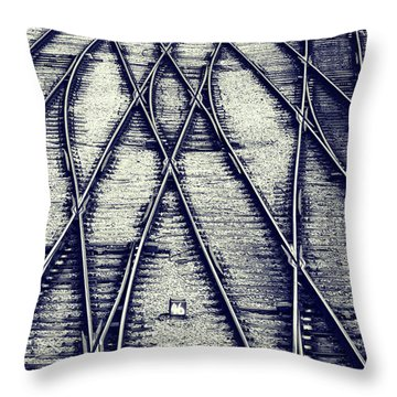 Journey Marks Throw Pillow