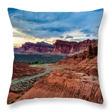 Journey Through Capitol Reef Throw Pillow
