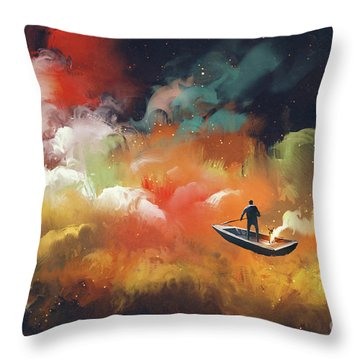 Journey To Outer Space Throw Pillow