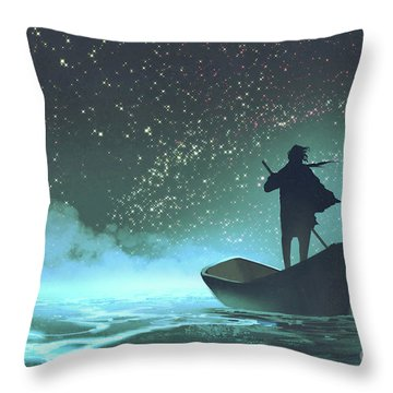 Journey To The New World Throw Pillow