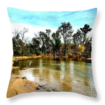 Journey To The Rivers Bend Throw Pillow