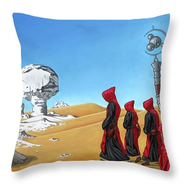 Journey To The White Desert Throw Pillow