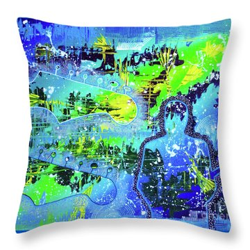 Throw Pillow featuring the painting Journeyman by Melissa Goodrich