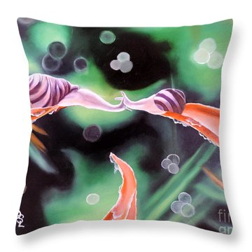 Throw Pillow featuring the painting Journey's End by Dianna Lewis